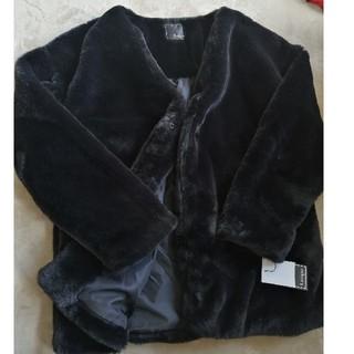シマムラ(しまむら)のしまむら ハッピーバック ファーコート 黒(毛皮/ファーコート)