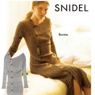 snidel - スナイデル(^^)アシンメトリーボタンニットワンピ