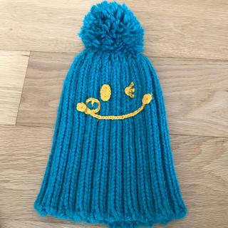ビームス(BEAMS)のBEAMS mini   ニット帽子 グリーン(帽子)