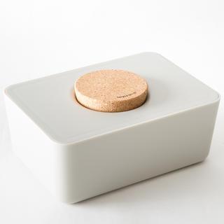 アクタス(ACTUS)の新品)sarasa design ウェットティッシュホルダー ライトグレー(ベビーおしりふき)