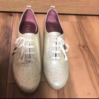 マークジェイコブス(MARC JACOBS)の最終セール!キラキラ グリッター シルバー シューズ(ローファー/革靴)