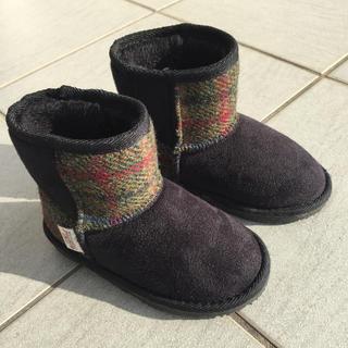 シマムラ(しまむら)のハリスツイード  ムートンブーツ  しまむら  16cm (ブーツ)