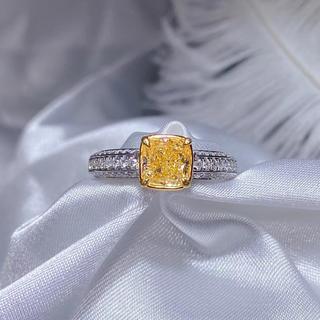 1.26ctファンシーイエローダイヤモンド指輪(リング(指輪))