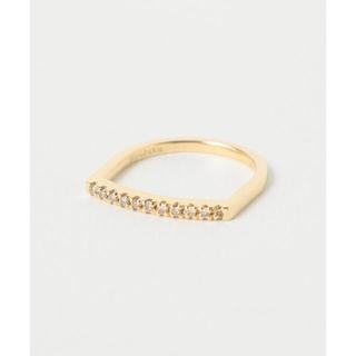 トゥモローランド(TOMORROWLAND)の限定値下げ Hirotaka ヒロタカ ダイヤモンドバー U型ピンキーリング(リング(指輪))