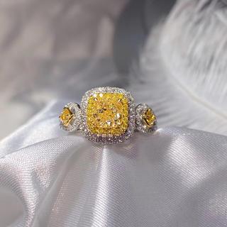 ファンシーイエローダイヤモンドリング(リング(指輪))