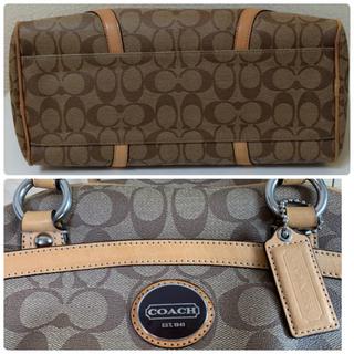 COACH - 【追加写真1】定価¥68000♡COACH♡シグネチャー♡ボストン型ハンドバッグ