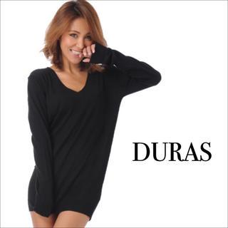 DURAS - DURAS シンプルVネックニットワンピース♡エゴイスト RESEXXY