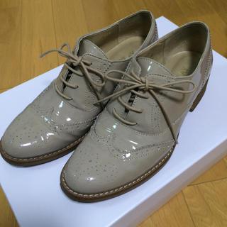 みずき様専用 ベージュ おじ靴(ローファー/革靴)