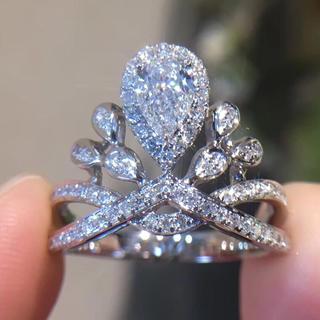 セール♡Gia王冠シリーズ0.4ctダイヤモンド指輪