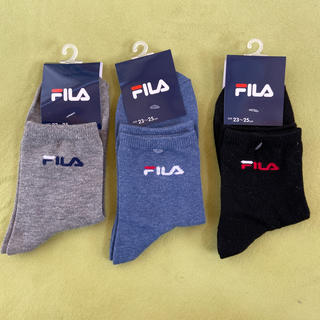 FILA - 「新品」未使用タグ付きFILA靴下3点セット(値下げしました)