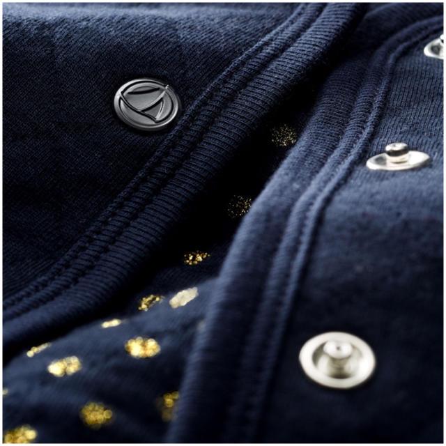 PETIT BATEAU(プチバトー)のプチバトー   チュビックキルティングカーディガン 36m キッズ/ベビー/マタニティのキッズ服女の子用(90cm~)(カーディガン)の商品写真