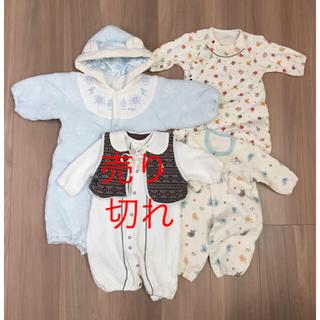 西松屋 - 赤ちゃん  おくるみ & カバーオール3点セット