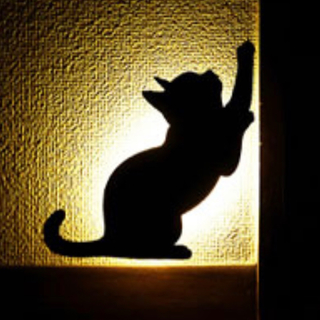 新品*未使用!ネコ ウォール ライト