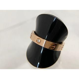 カルティエ(Cartier)のカルティエ ミニラブリング K18PG ピンクゴールド 1Pダイヤモンド (リング(指輪))