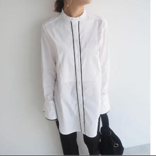 ENFOLD - myclozett  cen パイピングタキシードロングシャツ