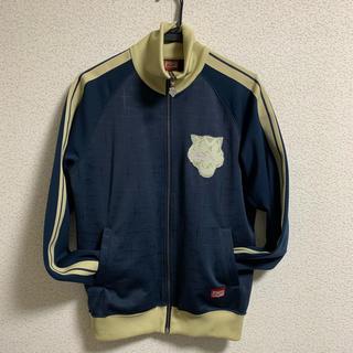 オニツカタイガー(Onitsuka Tiger)のオニツカタイガー トラックジャケット 青×ベージュ(ナイロンジャケット)