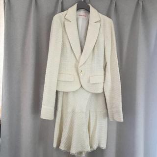 ミッシェルクラン(MICHEL KLEIN)のミッシェルクラン ツイード スーツ セレモニー KLEIN D'OEIL 入学式(スーツ)