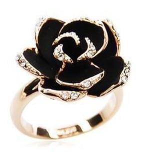 バラモチーフ ブラック リング(リング(指輪))