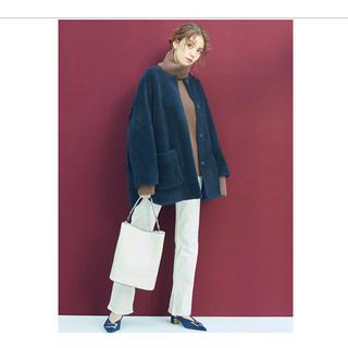 ミラオーウェン(Mila Owen)のMila Owen  ミラ オーウェン ノーカラーシャツカーブボアジャケット(ノーカラージャケット)