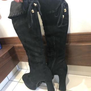 折り返しブーツ黒LL(ブーツ)