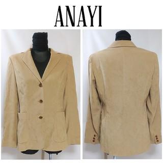 アナイ(ANAYI)のANAYI アナイ シンプル ジャケット M ベージュ レディース(テーラードジャケット)