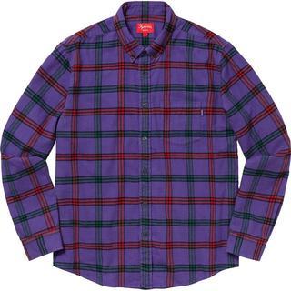 Supreme - Supreme Tartan Flannel Shirt 紫 L