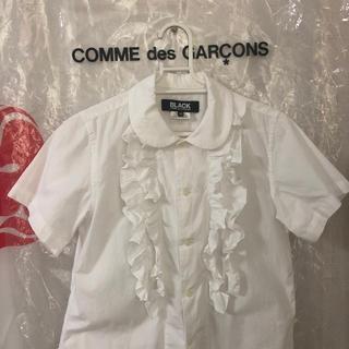 コムデギャルソン(COMME des GARCONS)のコムデギャルソン BLACK  フリルブラウス(シャツ/ブラウス(半袖/袖なし))