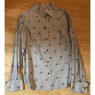 Vivienne Westwood - ヴィヴィアンウエストウッドストライプxオーブ刺繍ブラウスサイズ1