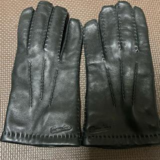 ボルサリーノ(Borsalino)のBorsalino ボルサリーノ メンズ レザーグローブ 手袋 ブラック 9(手袋)