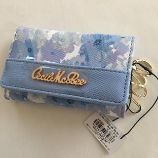 CECIL McBEE - 新品 セシルマクビー 花柄 キーケース ブルー