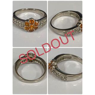 Pt900 ヘソナイトとダイヤモンドのデザインリング★早い者勝ち(リング(指輪))