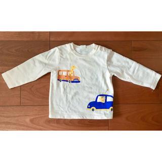 アカチャンホンポ(アカチャンホンポ)のベビートレーナー  長袖 白 90cm 男の子 キリン 車(Tシャツ/カットソー)