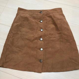 LOWRYS FARM - ローリーズファーム 台形スカート スウェード生地