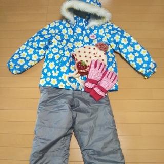 スノーウェア 140cm 手袋帽子付