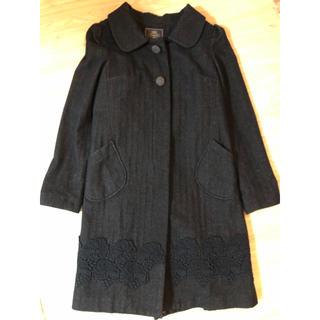 トッカ(TOCCA)のToccaトッカウールxレース刺繍コート(ロングコート)