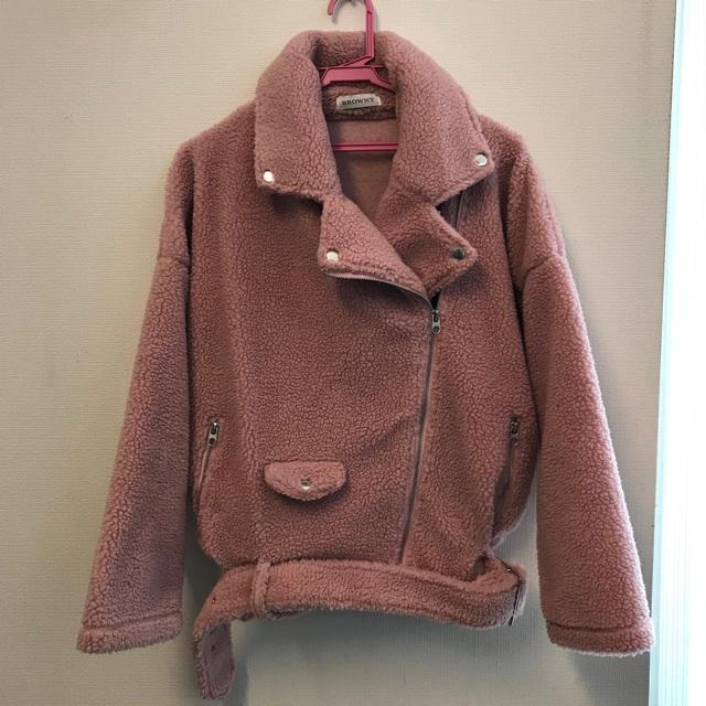 WEGO(ウィゴー)のwego ☆ボアブルゾン(ピンク) レディースのジャケット/アウター(ブルゾン)の商品写真