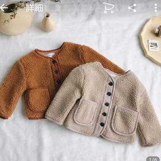 プティマイン(petit main)の韓国 海外 子ども服 ボアジャケット 120130(ジャケット/上着)