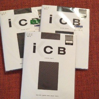 アイシービー(ICB)のiCB 柄 ストッキング  タイツ  3足セット(タイツ/ストッキング)