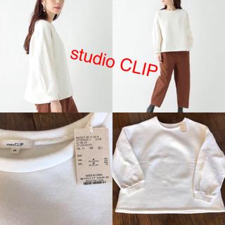 スタディオクリップ(STUDIO CLIP)の袖ジャガード切り替えプルオーバー M(トレーナー/スウェット)
