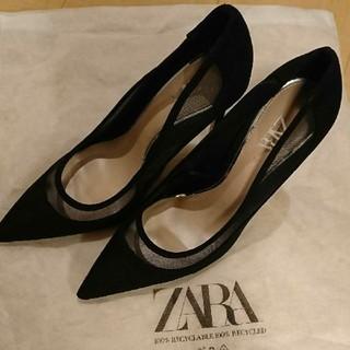 ザラ(ZARA)のZARA ヒール ブラック 37 新作(ハイヒール/パンプス)