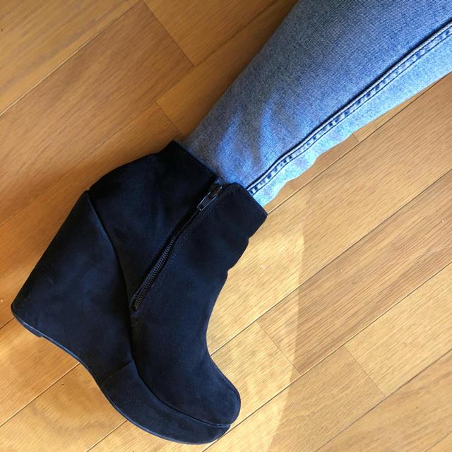 FOREVER 21(フォーエバートゥエンティーワン)のブーティー Lサイズ ベロア生地 レディースの靴/シューズ(ブーティ)の商品写真