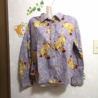 ピンクハウス(PINK HOUSE)のクマ くま 大人可愛い!! ブラウス 長袖 ワイシャツ シャツ(シャツ/ブラウス(長袖/七分))