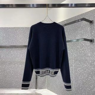 クリスチャンディオール(Christian Dior)の【大人気】ディオール セーター ニット 長袖 新作 ネイビー ロゴ(ニット/セーター)
