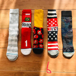 STUSSY - 新品 5足組セット stance socks スタンス ソックス 靴下 6