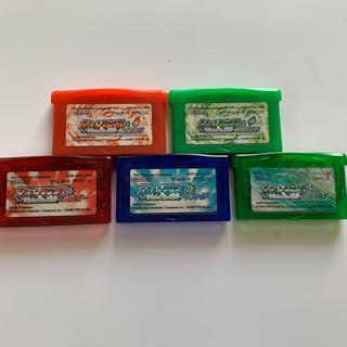 ゲームボーイアドバンス(ゲームボーイアドバンス)のポケモン GBA セット ゲームボーイアドバンス(携帯用ゲームソフト)