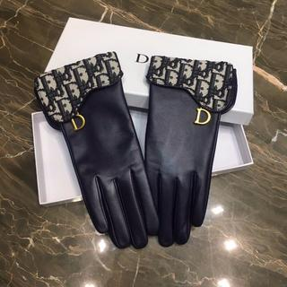 Dior - DIOR 手袋 レザー オブリーク サドル 金具 ロゴ 新作 ネイビー