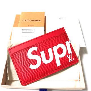 正規品 Supreme × Louis Vuitton エピ カードケース