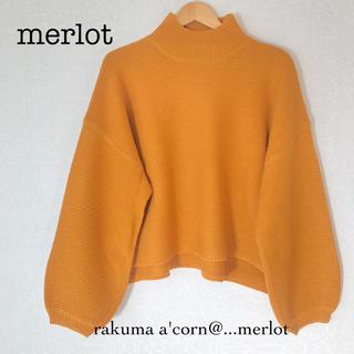 merlot - merlot バルーンスリーブニット *イエロー