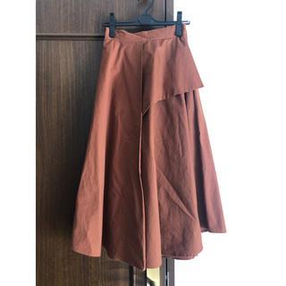 オードリーアンドジョンワッド(audrey and john wad)のデザインスカート ブラウン(ロングスカート)
