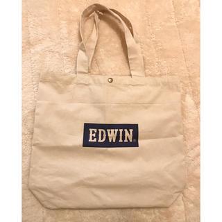 エドウィン(EDWIN)のEDWIN 大きめトートバッグ エコバッグ 帆布 生成(トートバッグ)